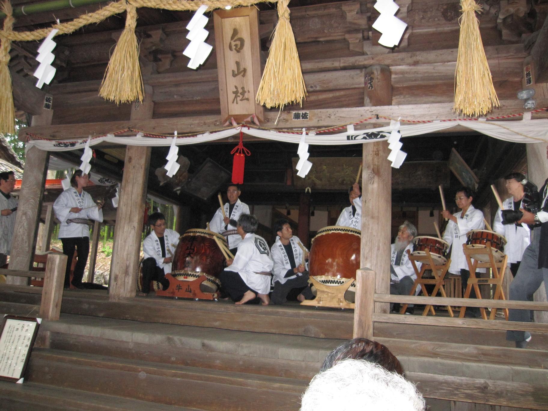 水引白山社2001年どぶろく祭り